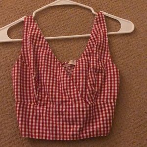 BRAND NEW CHECKERED CROP TOP